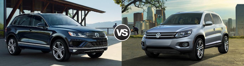 2017 Volkswagen Touareg vs 2017 Volkswagen Tiguan