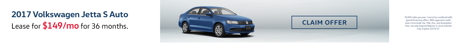 Jetta Lease Special
