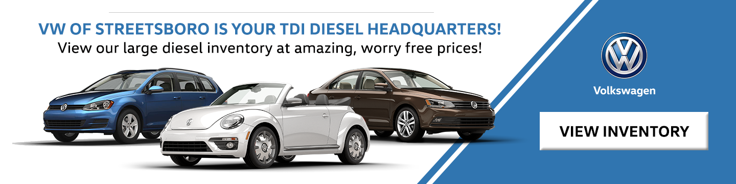 Volkswagen of Streetsboro is Your TDI Diesel Headquarters!