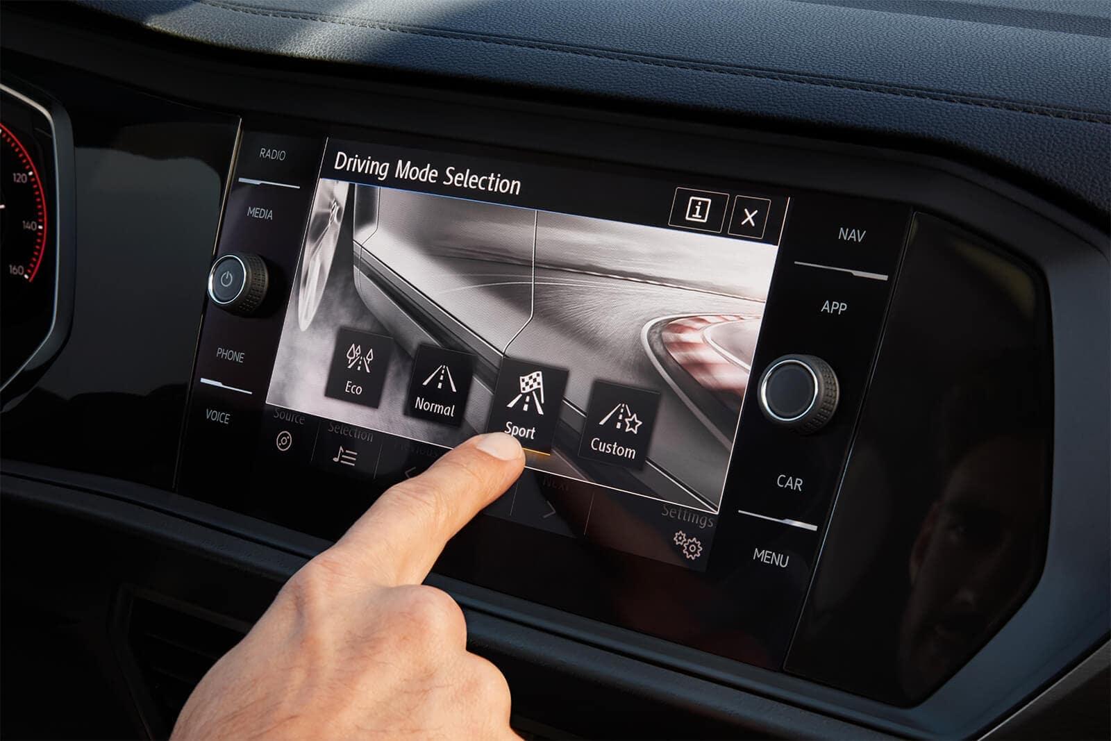 2019 Volkswagen Jetta Driving Mode Selection Display
