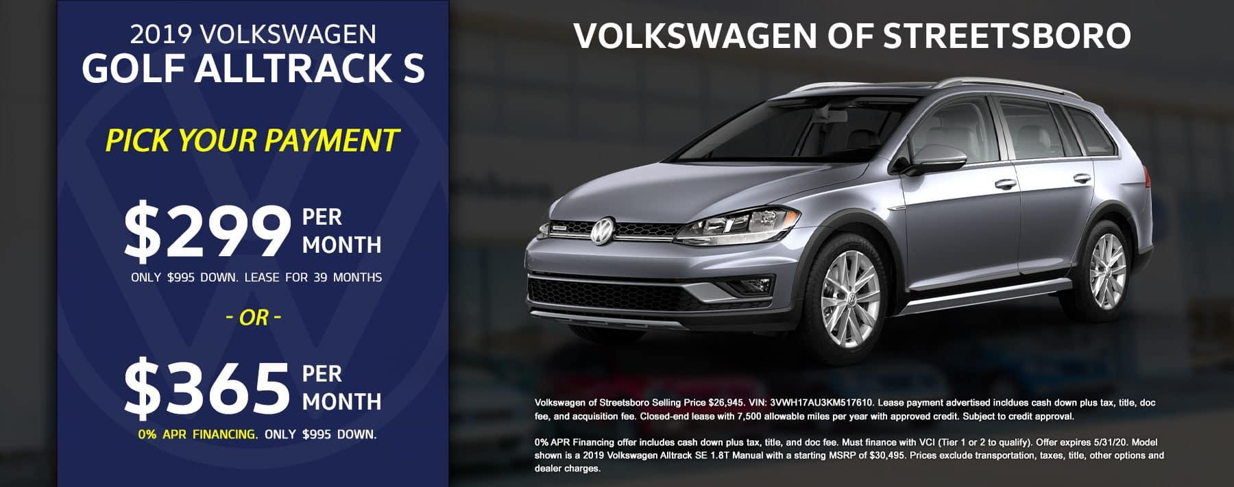 2019 VW Alltrack - May 2020