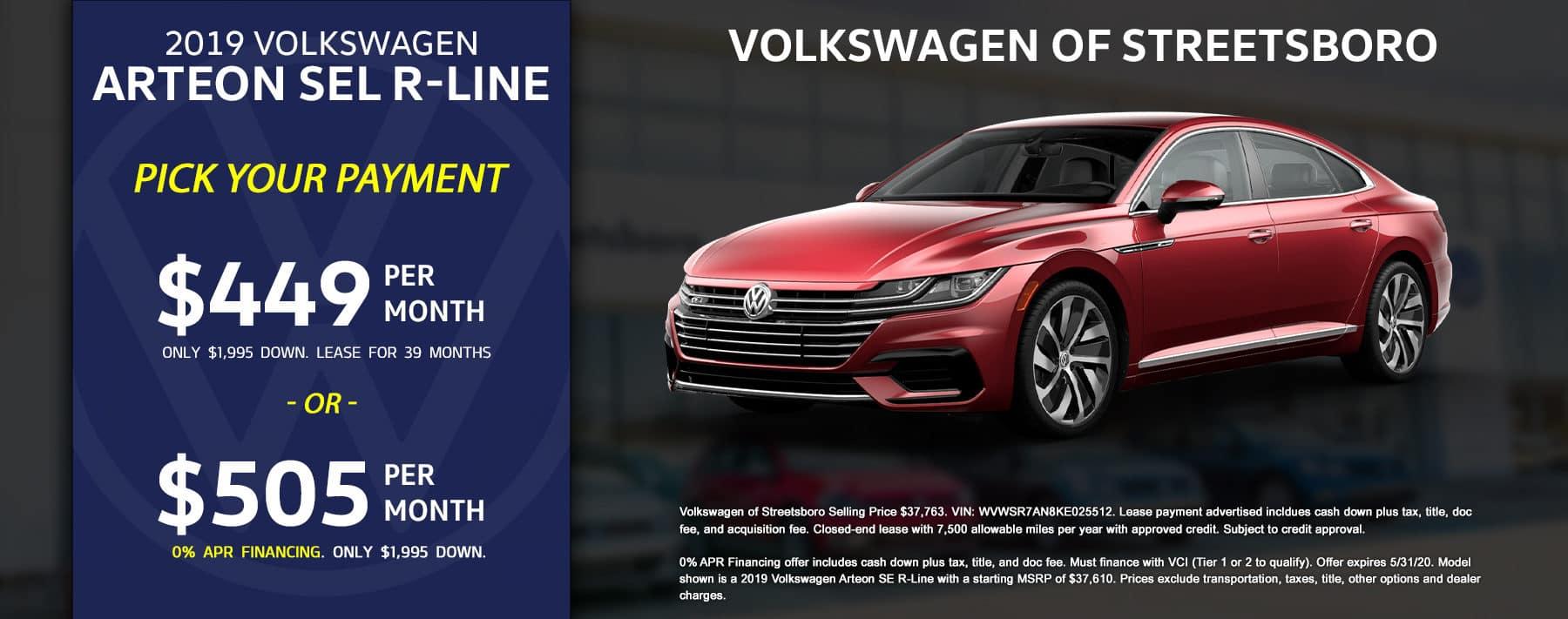 2019 VW Arteon - May 2020