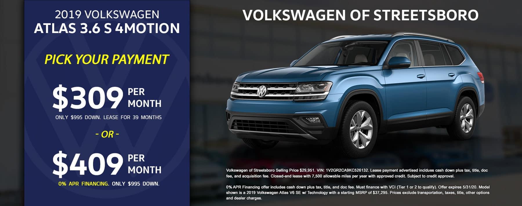 2019 VW Atlas - May 2020