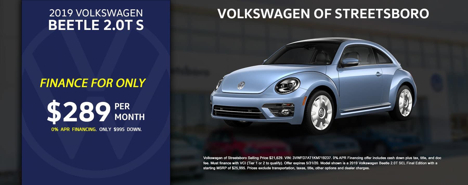 2019 VW Beetle - May 2020