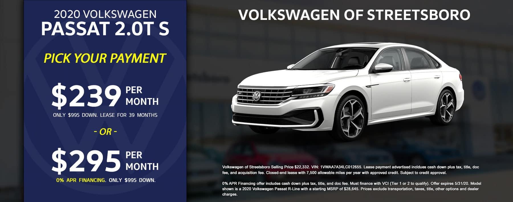 2020 VW Passat - May 2020