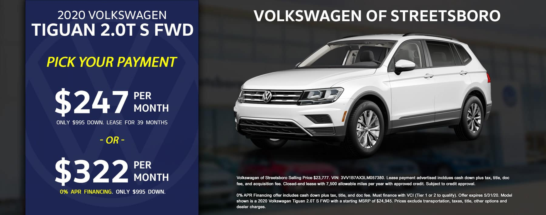 2020 VW Tiguan - May 2020