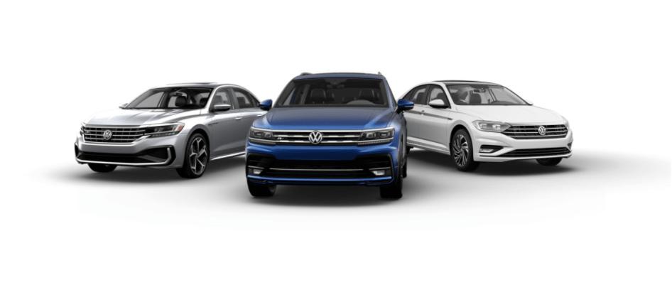 The Volkswagen Passat, Tiguan, and Jetta