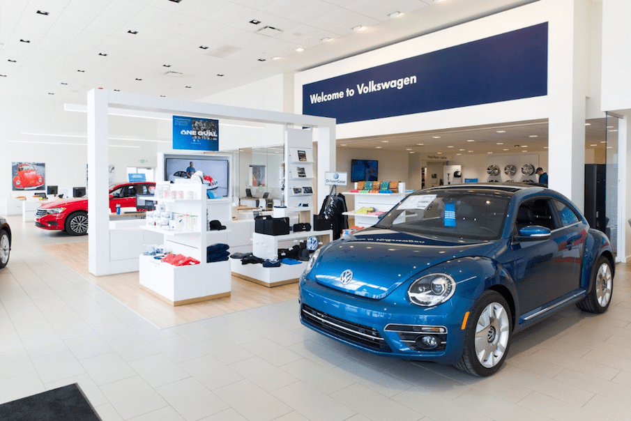 The Volkswagen of Streetsboro Showroom