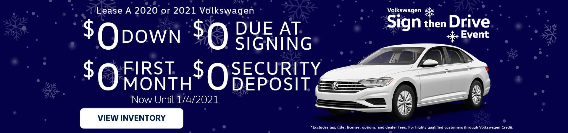 Sign Then Drive December Offer