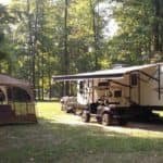 West Branch Park in Portage County with Trailers and Campfire Banner Image (1)
