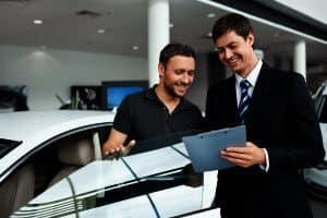 Guys in Car Dealership