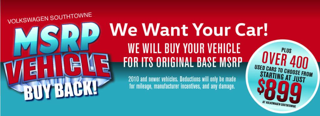 MSRP Buy Back Sale!