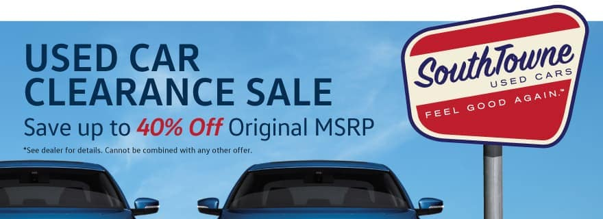 Used Car Clearance Sale at Volkswagen SouthTowne