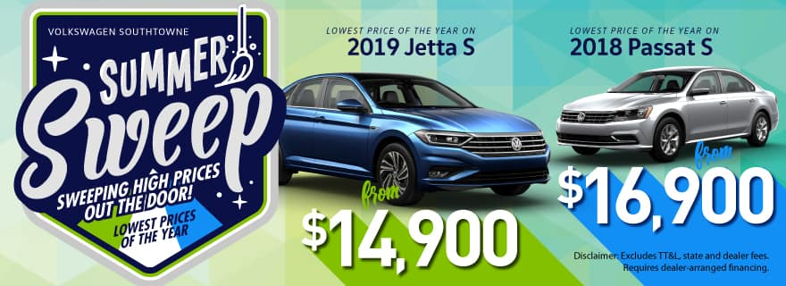 2018 Jetta S & 2018 Passat S