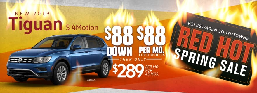 Don't miss Volkswagen SouthTowne's Red Hot $88 Sale!