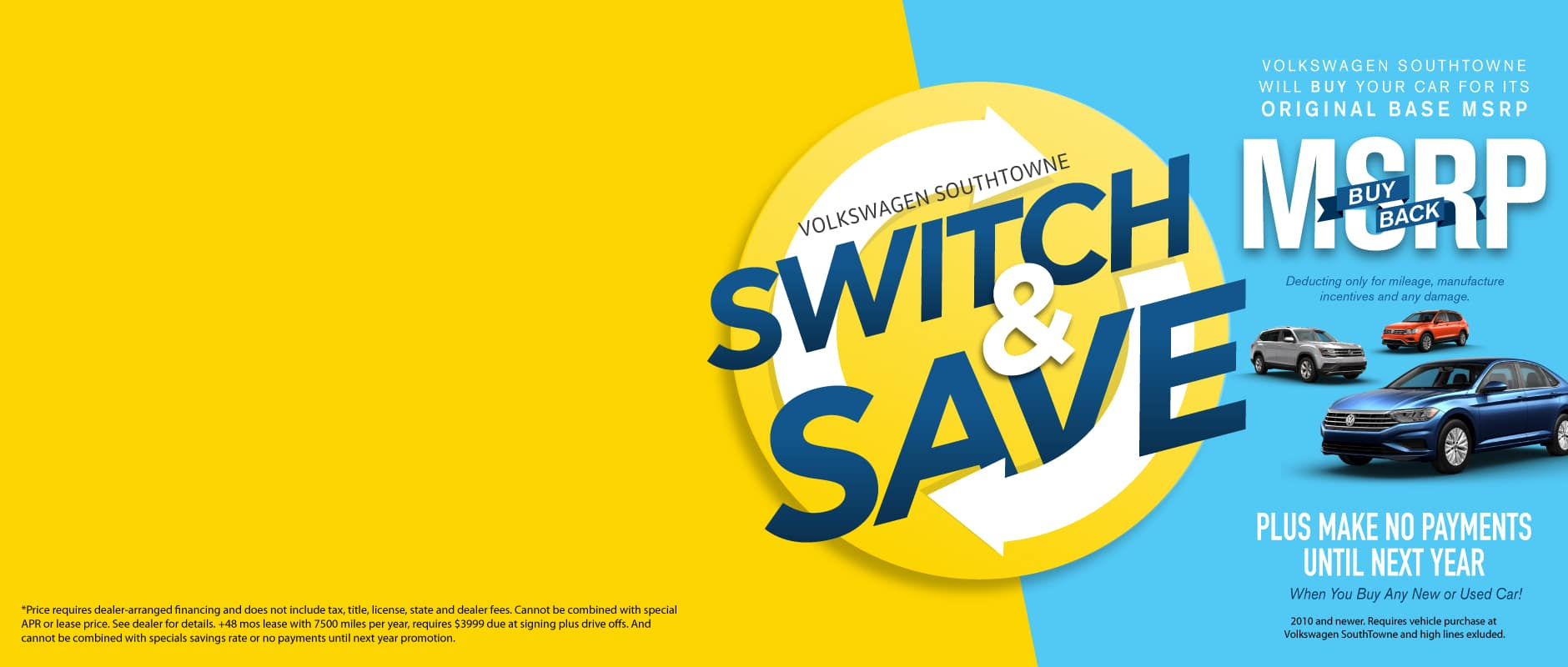 MSRP Buy Back at Volkswagen SouthTowne - Switch and Save Today!