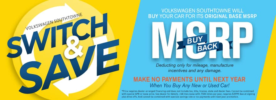 MSRP Buy Back Volkswagen SouthTowne Switch and Save