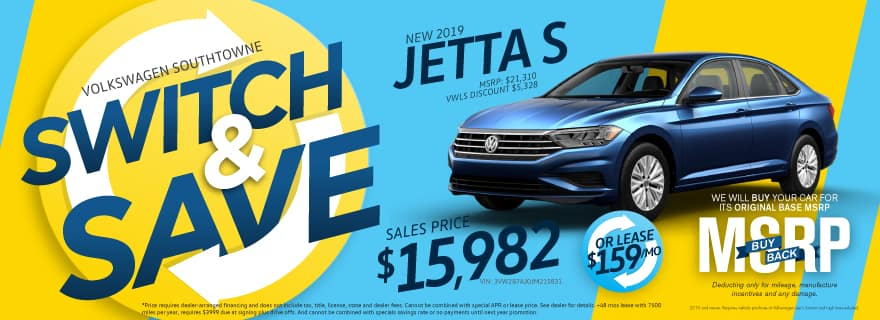 Switch and Save Jetta Volkswagen SouthTowne