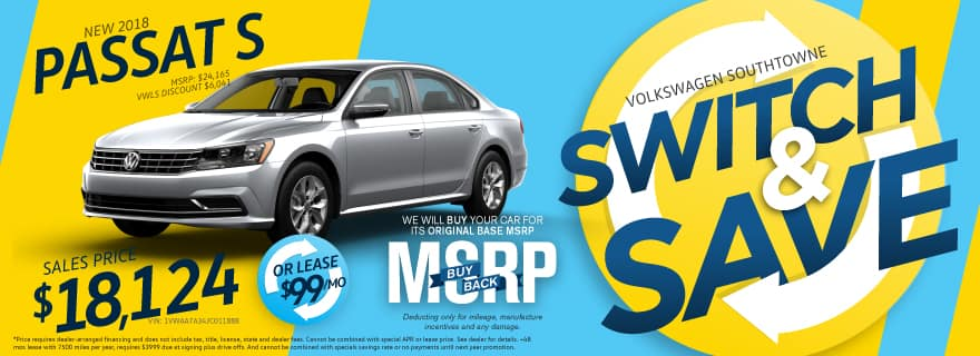 Switch and Save Passat Volkswagen SouthTowne