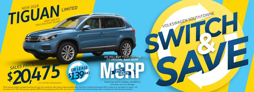 Switch and Save Tiguan Ad Volkswagen SouthTowne