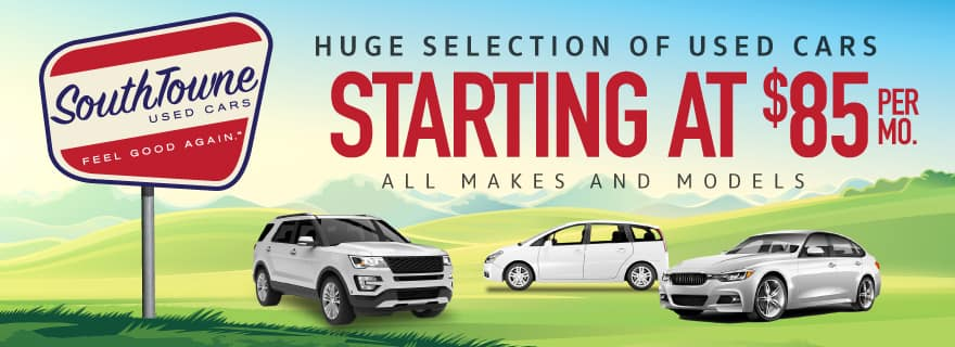Used Cars Starting at $85 SouthTowne Used