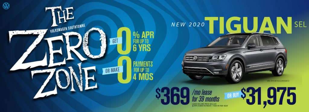 Get 0% APR for 6 years OR ZERO payments for 4 months at Volkswagen SouthTowne
