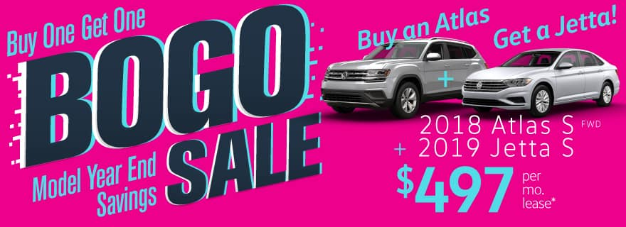 2 for 1 Atlas and Jetta Sale!