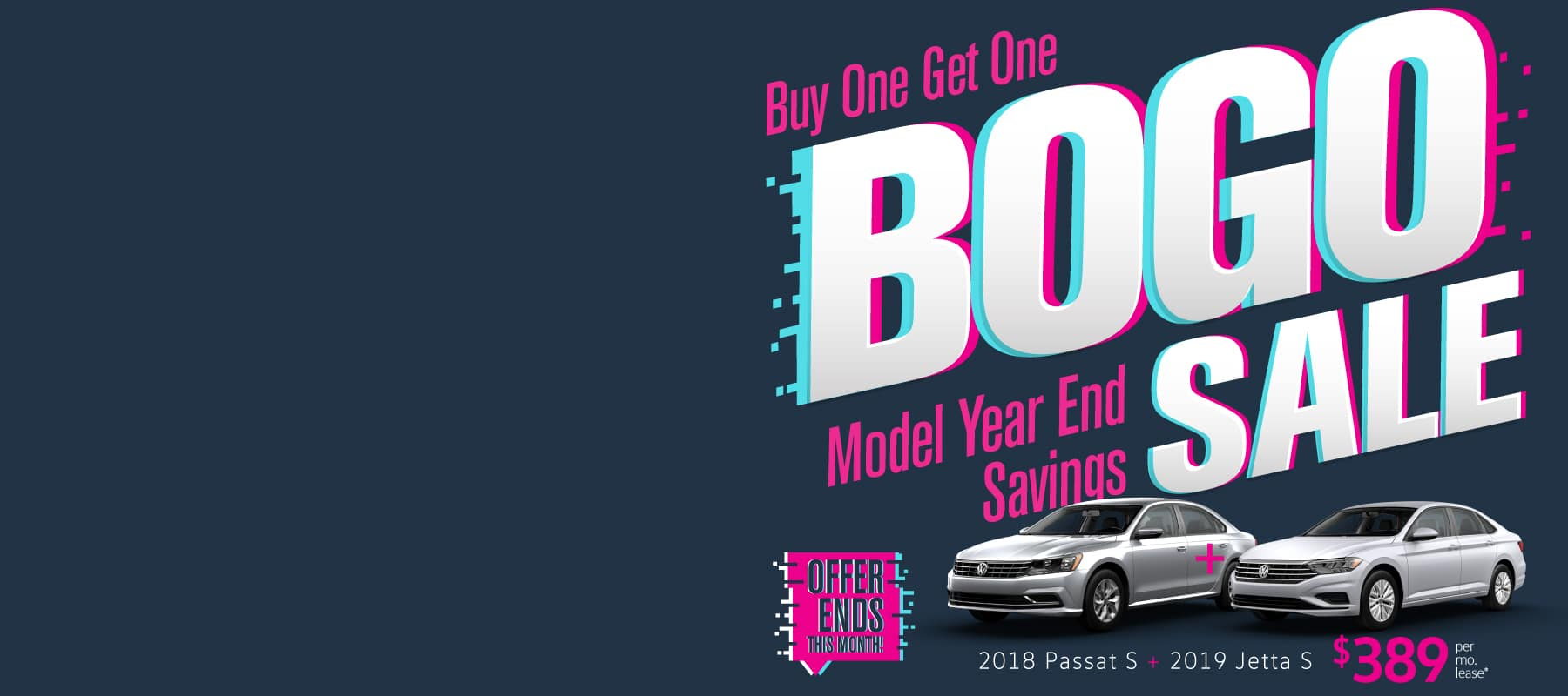Buy One Get One 2 for 1 Sale at Volkswagen SouthTowne!