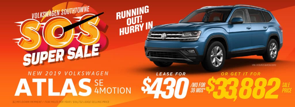 Get huge savings on the 2019 Atlas!