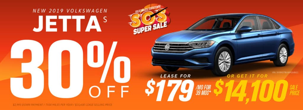 Get up to 30% off remaining 2019 Jetta models