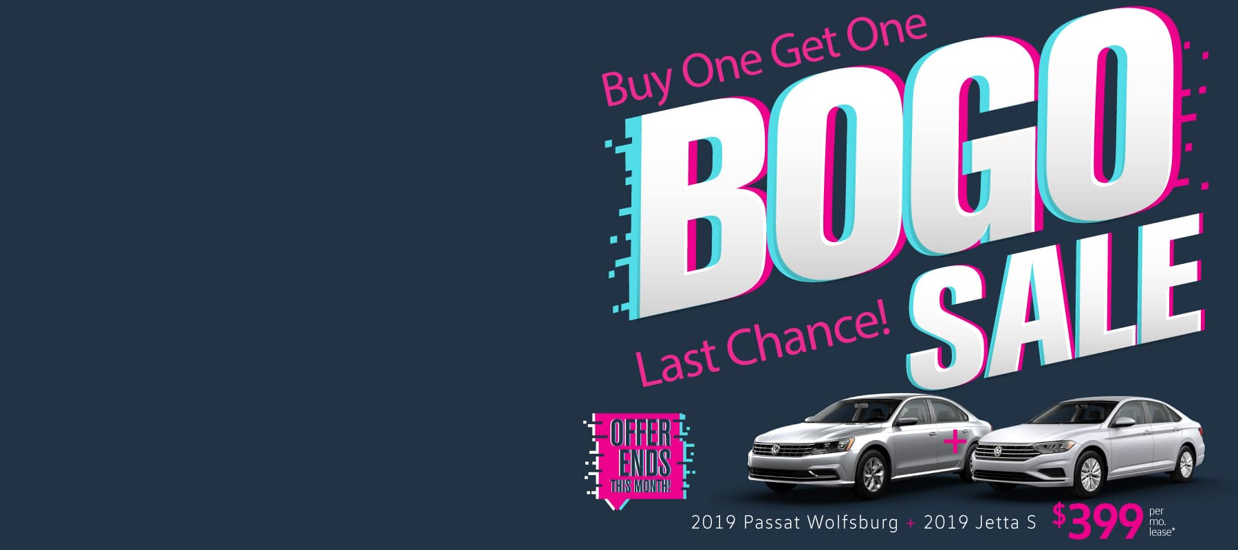 Don't miss our Buy One Get One sale at Volkswagen SouthTowne!