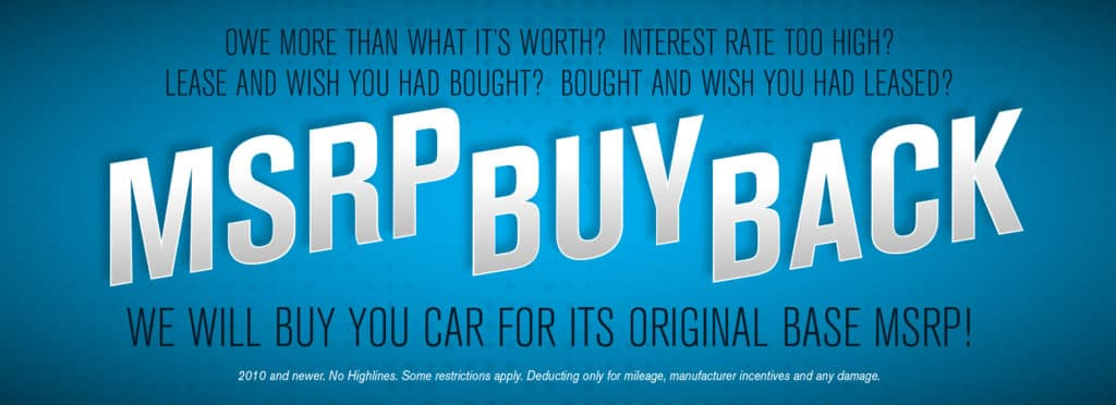 We will buy your car for its original base MSRP at Volkswagen SouthTowne!