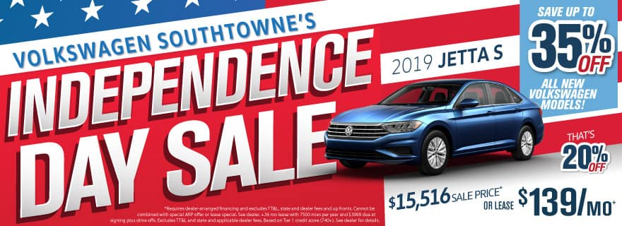 VW Jetta up to 20% off