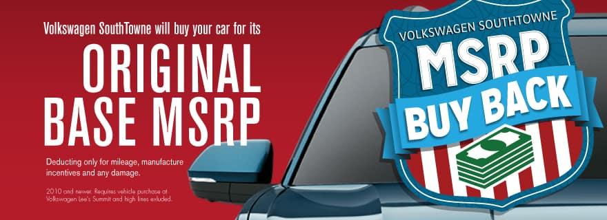 Get our MSRP Buy Back Sales Event