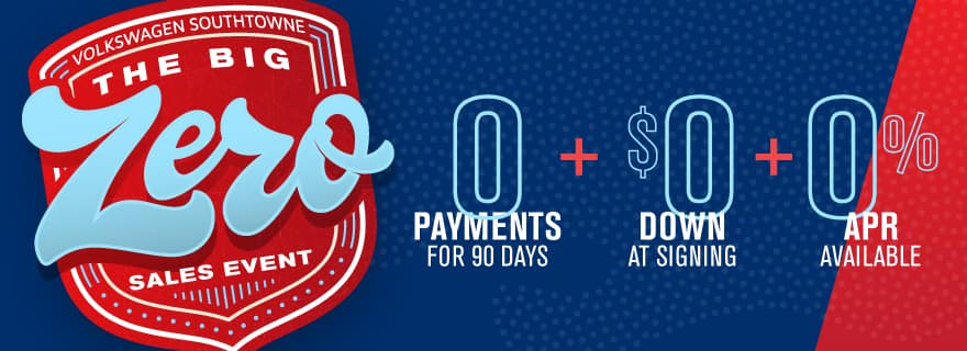 Get a new VW for ZERO down and ZERO Payments for 90 days.