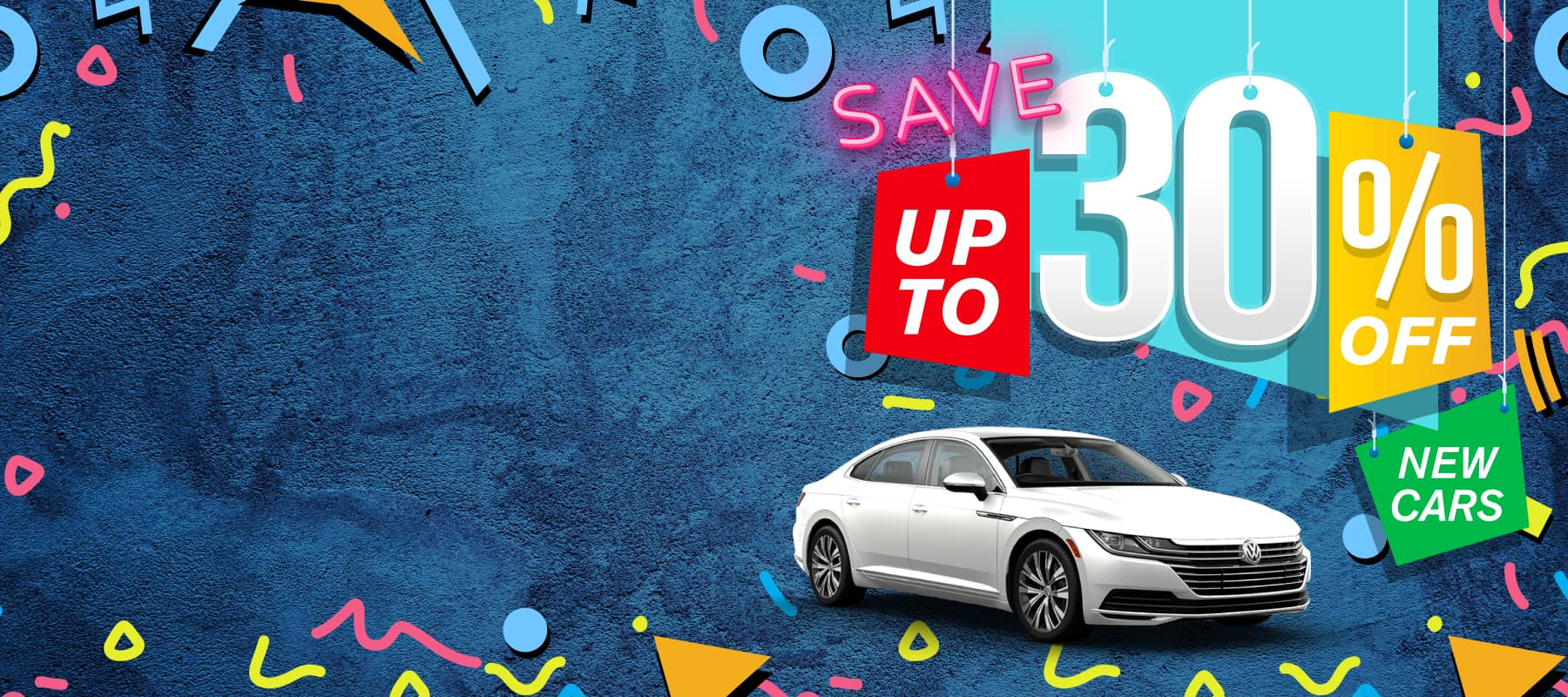 Save up to 30% off New Cars at Volkswagen SouthTowne!