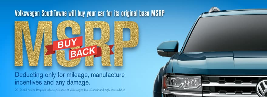 Don't miss our MSRP Buy Back sale!