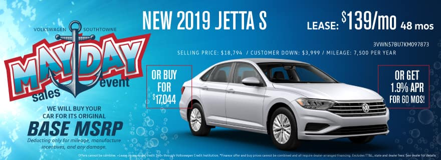 Save big at Volkswagen SouthTowne on Jetta models