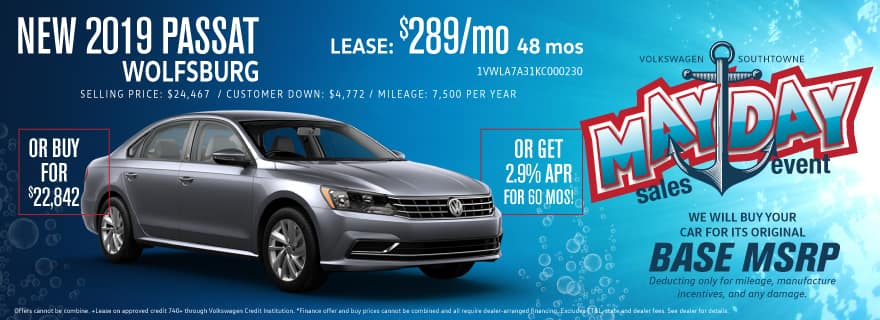 Don't miss our MAYDAY sale - save big on the Passat!