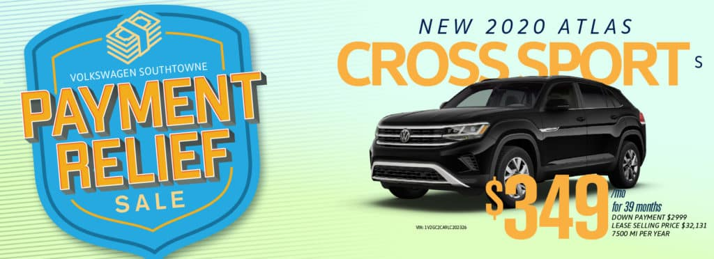 Get Payment Relief on the new Atlas Cross Sport at Volkswagen SouthTowne