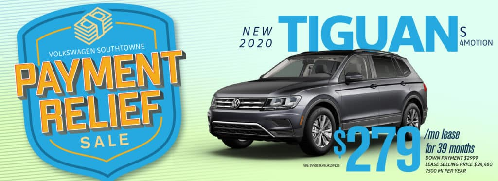 Get Payment Relief on the 2020 Tiguan at Volkswagen SouthTowne