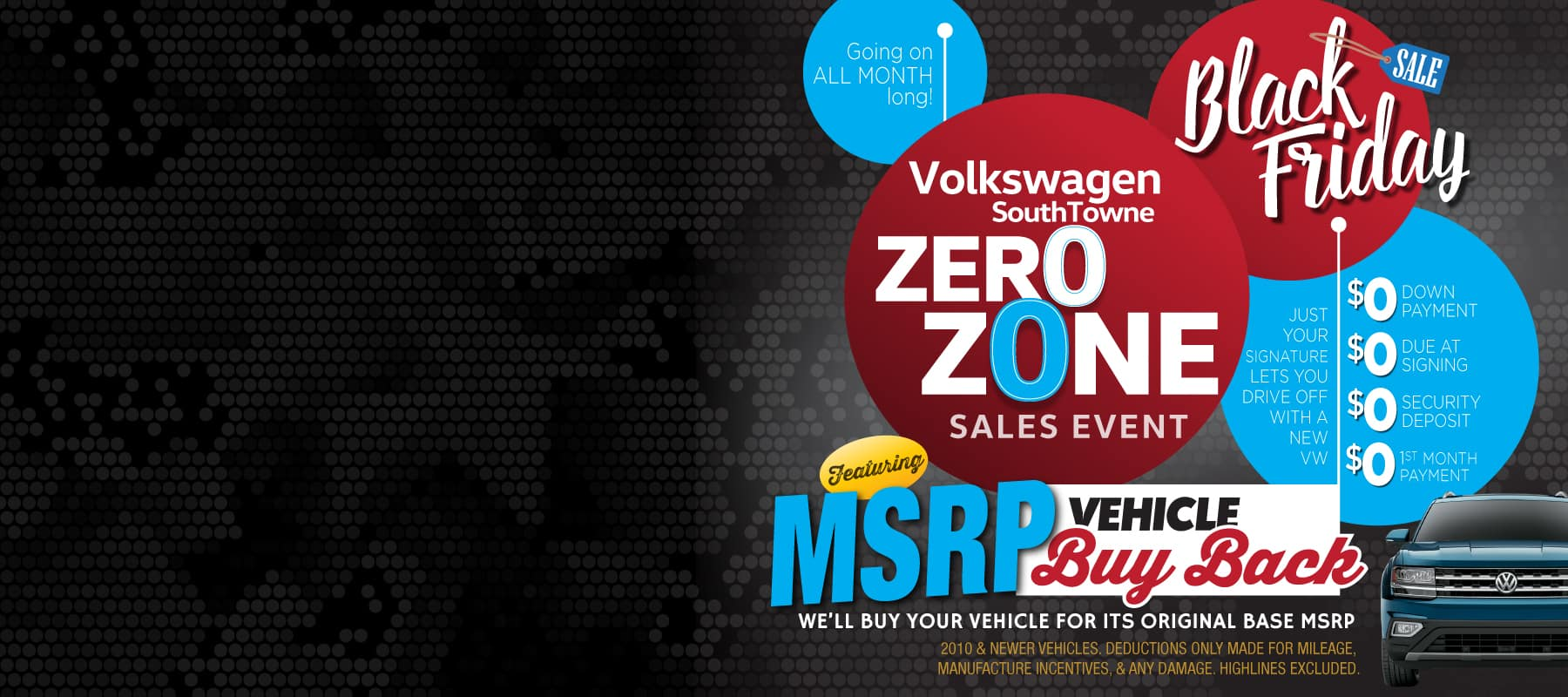 Black Friday Clearance Deals and ZERO ZONE at Volkswagen SouthTowne
