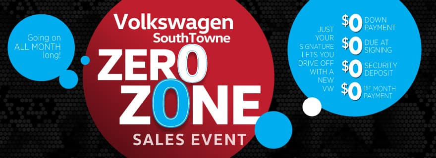 Zero Zone - lease any new VW for ZERO down and ZERO first month's payment