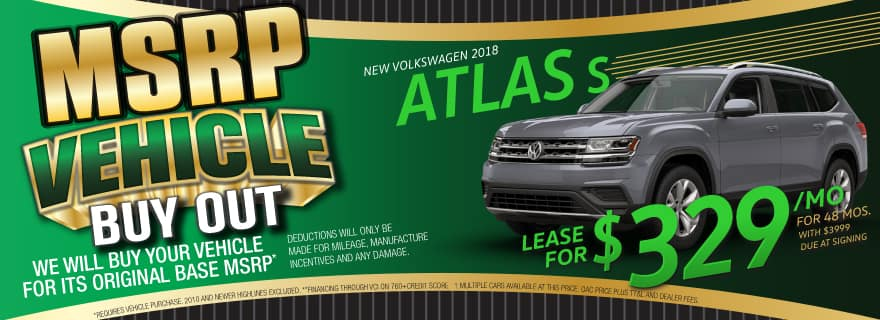 Lease the Atlas for $329/mo at Volkswagen SouthTowne
