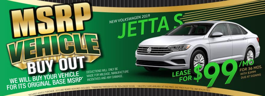 VW SouthTowne Jetta lease for $99!