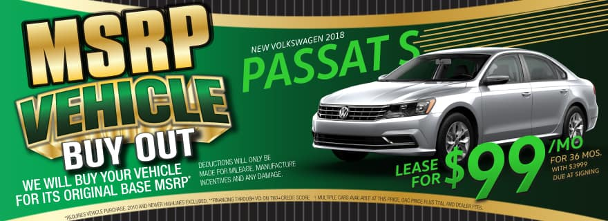 Lease the 2018 Passat for $99/mo at Volkswagen SouthTowne!