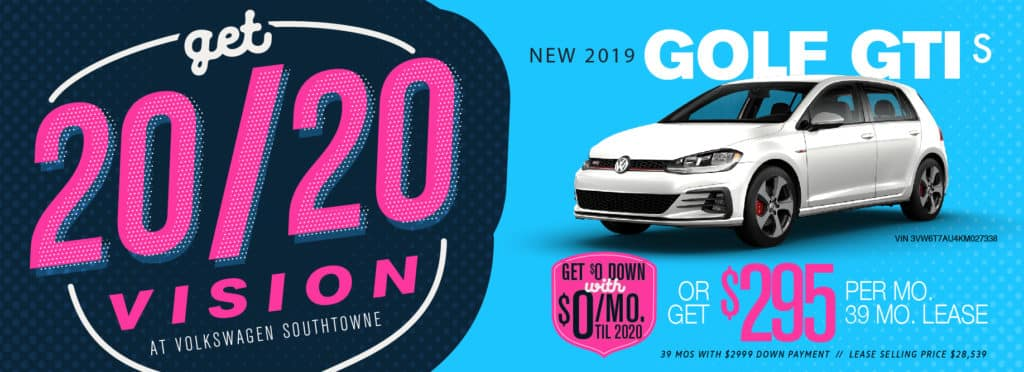 Pay $0 Down and $0/mo until 2020 at Volkswagen SouthTowne!