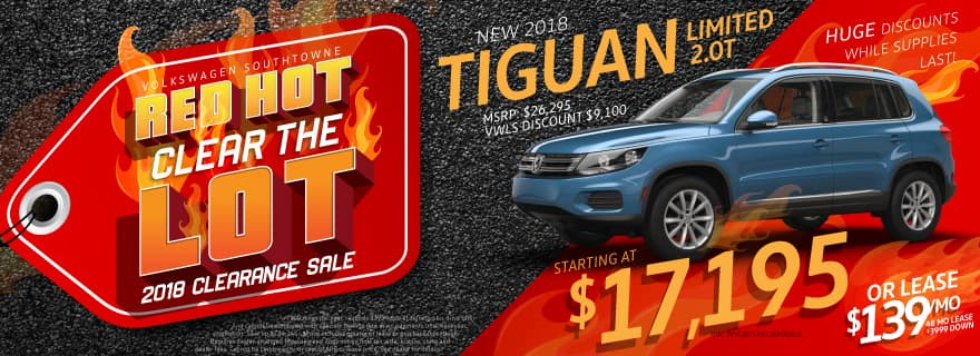 Tiguan Sale Red Hot Clear The Lot SouthTowne VW