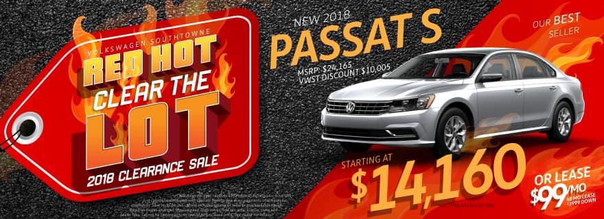 Red Hot Passat Sale at Volkswagen SouthTowne