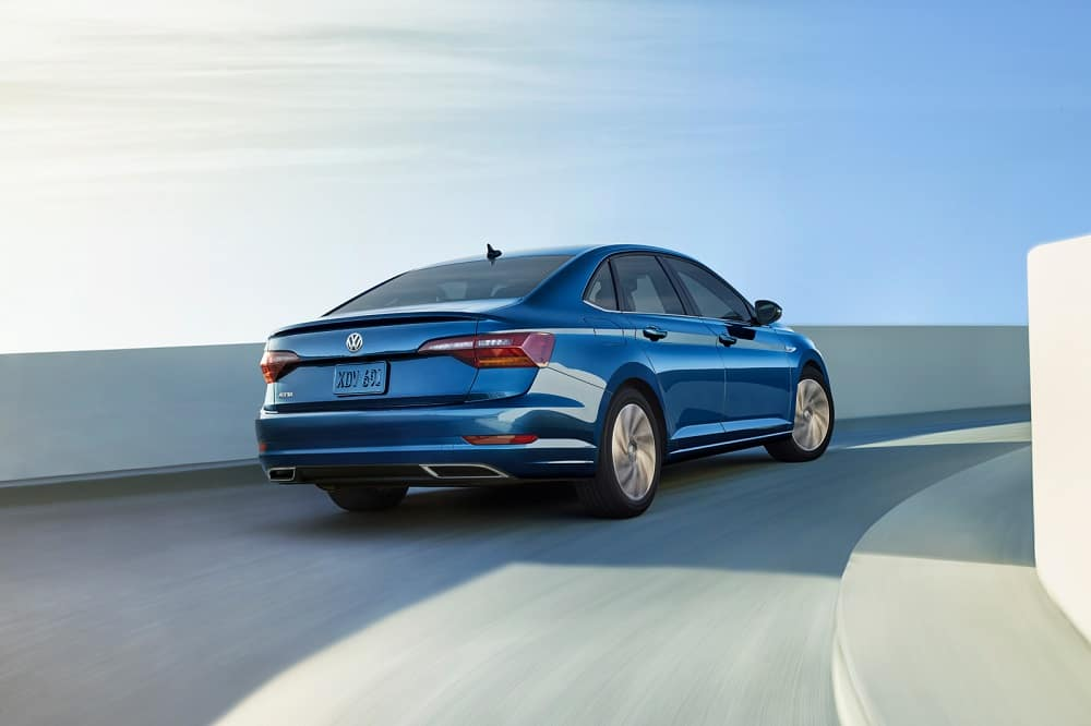 2019 Volkswagen Jetta back view Silk Blue Metallic